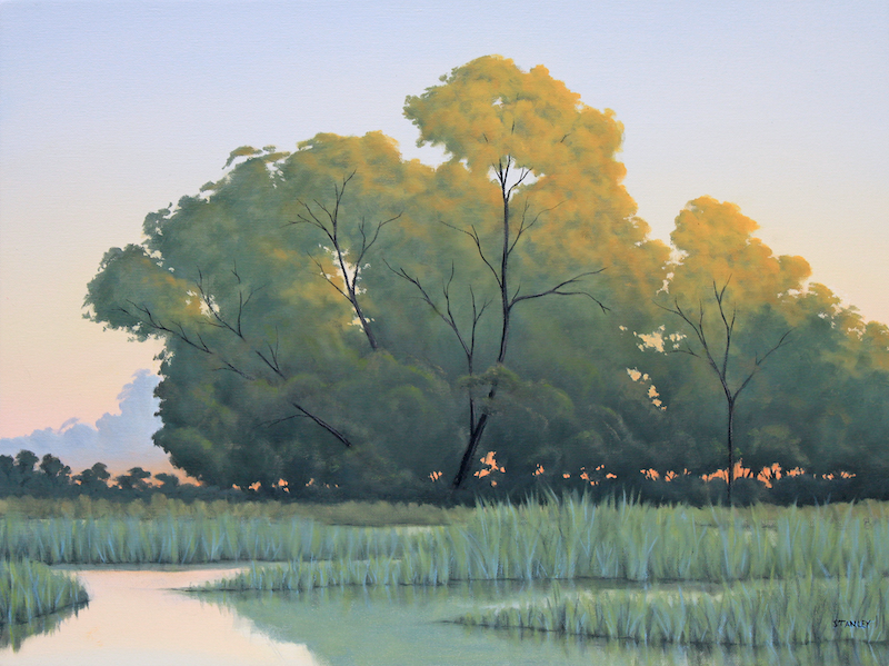 (CreativeWork) The Inlet by Richard Stanley. Oil Paint. Shop online at Bluethumb.