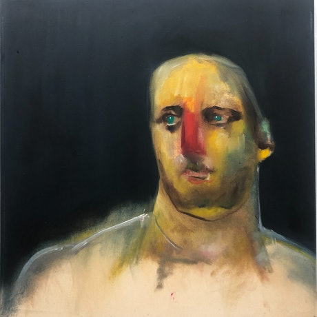 (CreativeWork) The Groom by Lisa Kotoulas. Oil Paint. Shop online at Bluethumb.