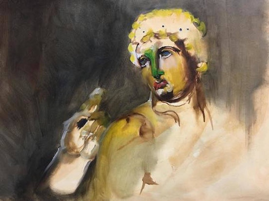 (CreativeWork) Apollo by Lisa Kotoulas. Oil Paint. Shop online at Bluethumb.