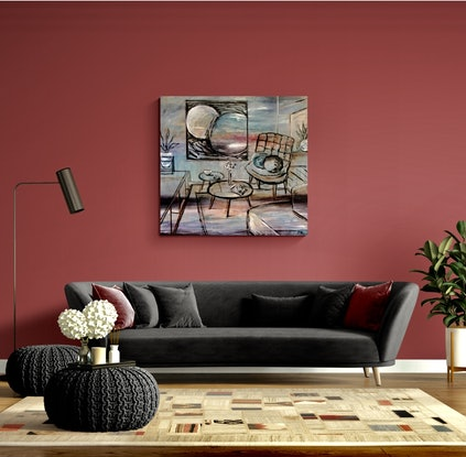 (CreativeWork) Superimposed by Eva Horvath. Oil Paint. Shop online at Bluethumb.