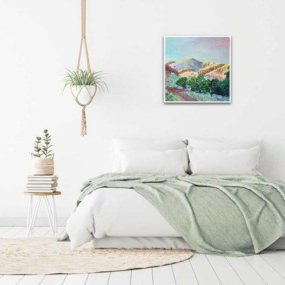 (CreativeWork) SUNRISE TRACK by Suzy Strout. Acrylic Paint. Shop online at Bluethumb.