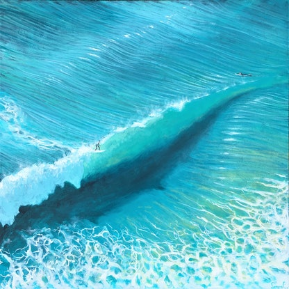 (CreativeWork) The wave by Lorena Chivu. Acrylic. Shop online at Bluethumb.