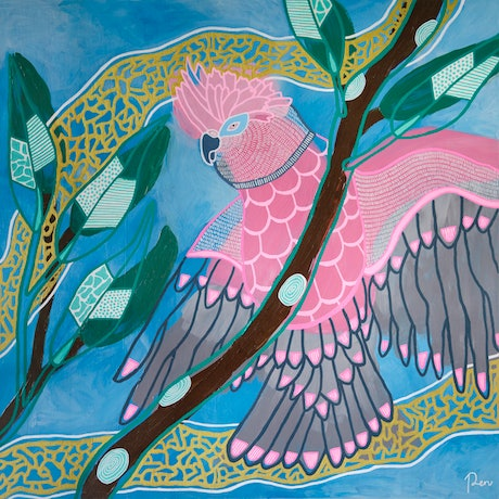 (CreativeWork) Release by Penny Matchett. Acrylic Paint. Shop online at Bluethumb.