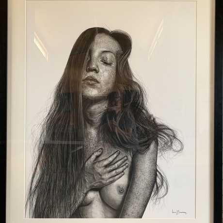 (CreativeWork) The Silk Cocoon (Lauren Isabeau) by Lew Brennan. Drawings. Shop online at Bluethumb.