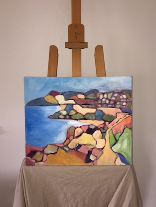 (CreativeWork) Beach Walk to Bronte  by Susannah Bond. Oil Paint. Shop online at Bluethumb.