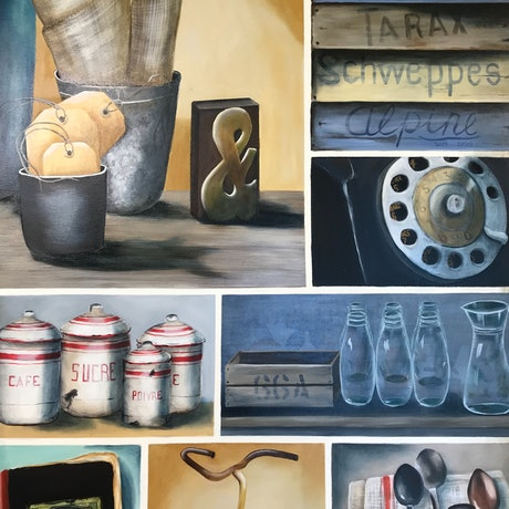 (CreativeWork) Compilation of Paintings by Dianne Fix. Oil Paint. Shop online at Bluethumb.