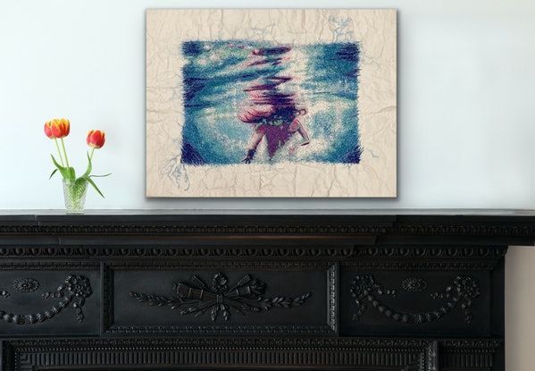 (CreativeWork) Drop of Water - Study in Thread by Kerry Inkster. Mixed Media. Shop online at Bluethumb.