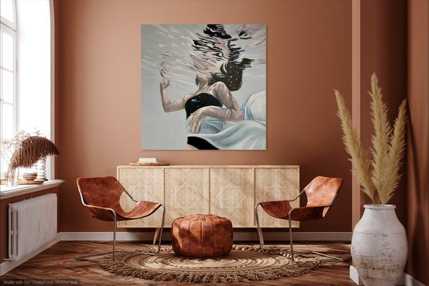(CreativeWork) Ethereal by Amanda Cameron. Oil. Shop online at Bluethumb.
