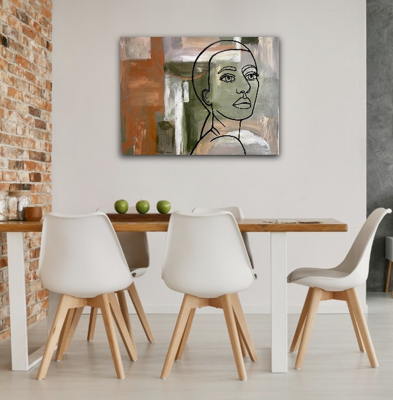 (CreativeWork) Urban Dreamer (Collaboration) by Sue Woolnough. Mixed Media. Shop online at Bluethumb.