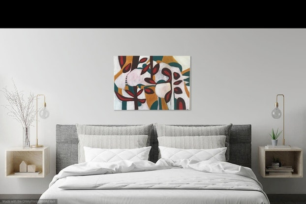 (CreativeWork) Melody by Linda Neil. Acrylic Paint. Shop online at Bluethumb.