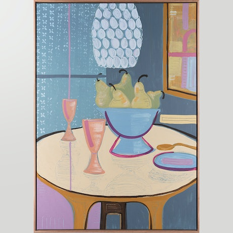 (CreativeWork) Supper in the Blue Room (Framed) by Kerry L Brown. Acrylic Paint. Shop online at Bluethumb.