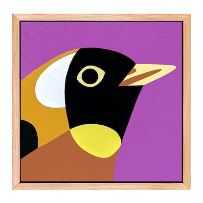 (CreativeWork) Snippet No.124 - Bird Portrait     by Andria Beighton. Acrylic Paint. Shop online at Bluethumb.