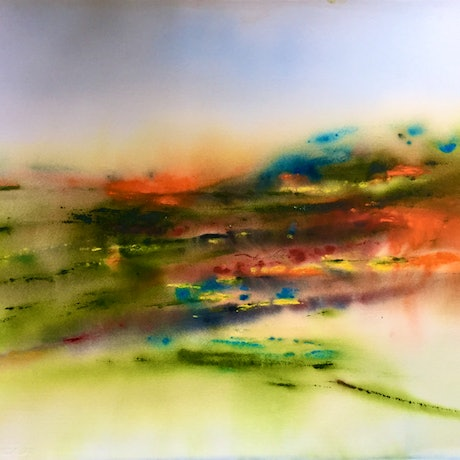 (CreativeWork) Unclouded and Crisp by Grace Bardini. Watercolour Paint. Shop online at Bluethumb.