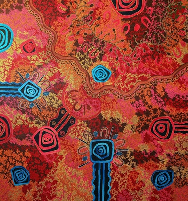 (CreativeWork) Great Grandmothers Country by T'keyah Ware. Acrylic Paint. Shop online at Bluethumb.