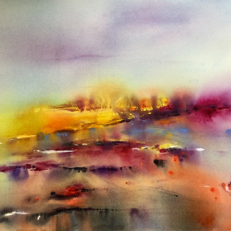 (CreativeWork) Field of Vision by Grace Bardini. Watercolour Paint. Shop online at Bluethumb.