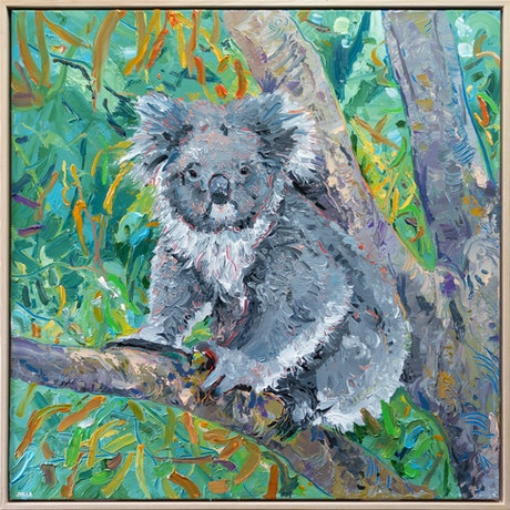 (CreativeWork) Koala 2 - Framed by Joseph Villanueva. Acrylic Paint. Shop online at Bluethumb.
