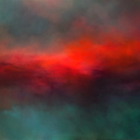 (CreativeWork) Velvety Distant by Grace Bardini. Acrylic Paint. Shop online at Bluethumb.