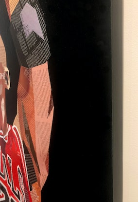 (CreativeWork) Michael Jordan - The Goat (Greatest of all Time) by Sue Dowse. Mixed Media. Shop online at Bluethumb.
