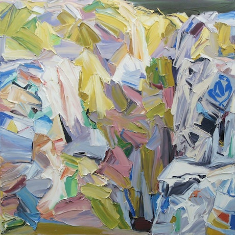 (CreativeWork) Paper Mountain 2 by Steve Tyerman. Oil Paint. Shop online at Bluethumb.
