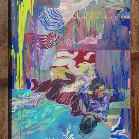 (CreativeWork) JUNGLE FREE-FLOW by Eric Sesto. Acrylic Paint. Shop online at Bluethumb.