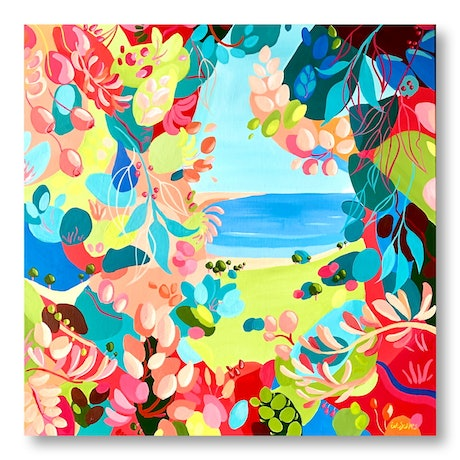 (CreativeWork) Places We'd Rather Be by Eve Sellars. Acrylic Paint. Shop online at Bluethumb.