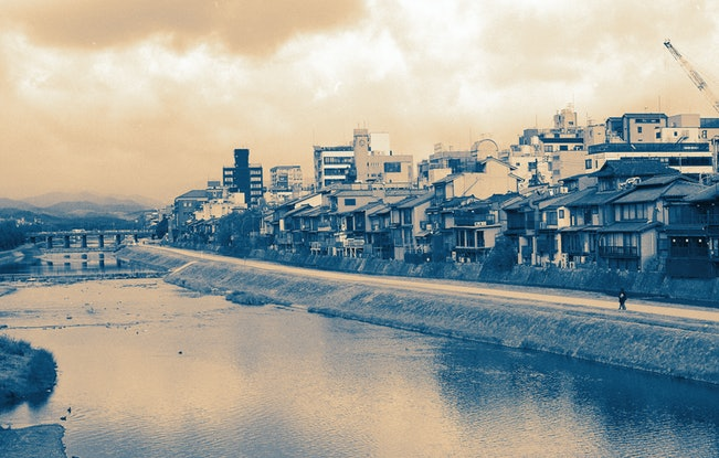 (CreativeWork) Kamo River, Kyoto, Japan Ed. 2 of 10 by Rosalind Pach. Photograph. Shop online at Bluethumb.