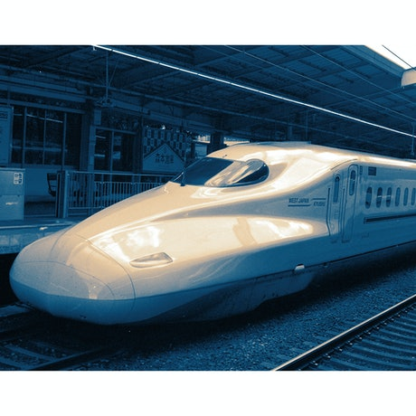 (CreativeWork) Bullet Train, Japan Ed. 1 of 10 by Rosalind Pach. Photograph. Shop online at Bluethumb.