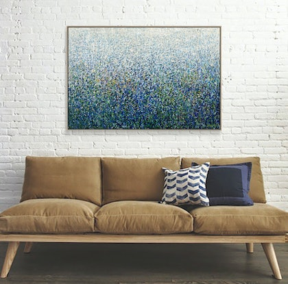 (CreativeWork) Night View - Framed - 125 x 84cm -  Acrylic on Canvas  by George Hall. Acrylic Paint. Shop online at Bluethumb.