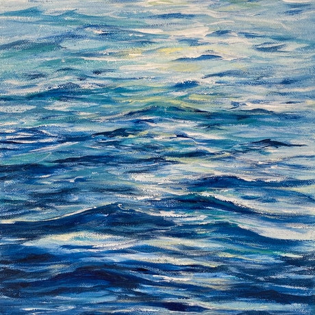 (CreativeWork) Oceanic  by Ann Steer. Acrylic Paint. Shop online at Bluethumb.