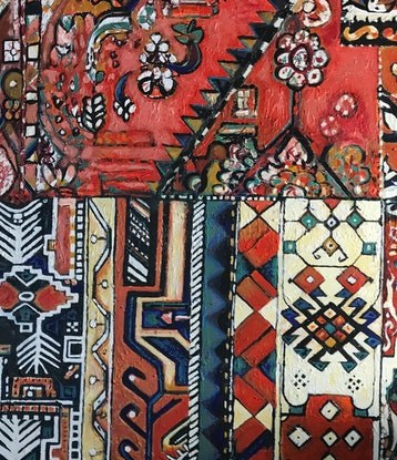(CreativeWork) PERSIAN ORNAMENT no 4 by LOUISE GROVE WIECHERS. Acrylic Paint. Shop online at Bluethumb.