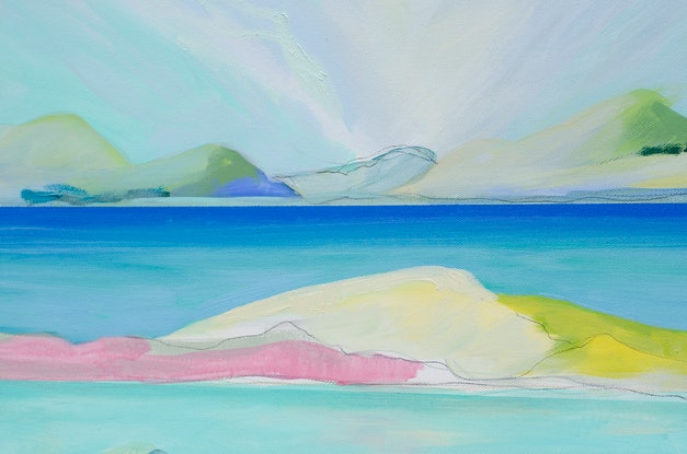 (CreativeWork) Coorong (A) by Lydie Paton. Mixed Media. Shop online at Bluethumb.