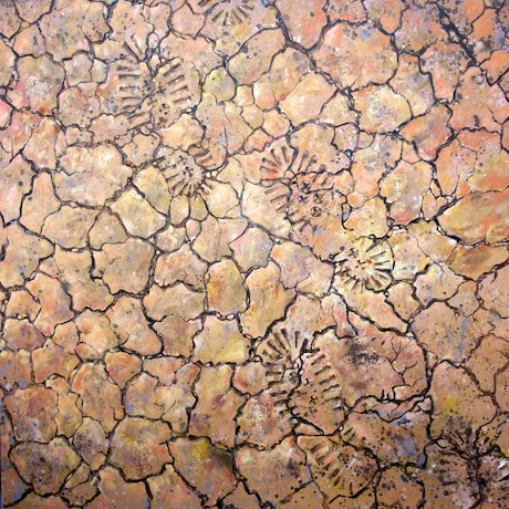 (CreativeWork) Australia ... The cracks are appearing by Paul Whitehead. Oil Paint. Shop online at Bluethumb.