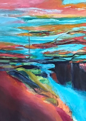 (CreativeWork) FALLS  - oil  by Tracey Berthold. Oil Paint. Shop online at Bluethumb.