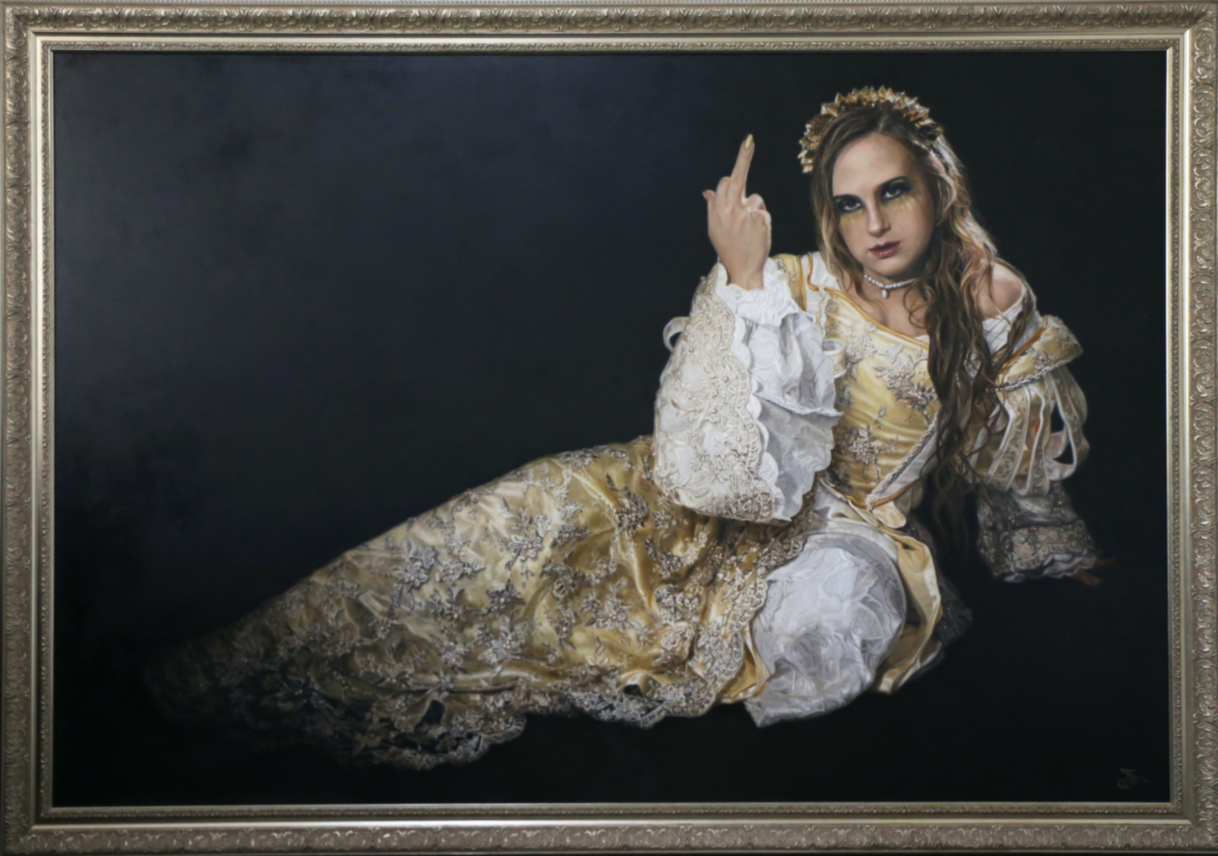 (CreativeWork) Ladylike by Jaq Grantford. Oil Paint. Shop online at Bluethumb.