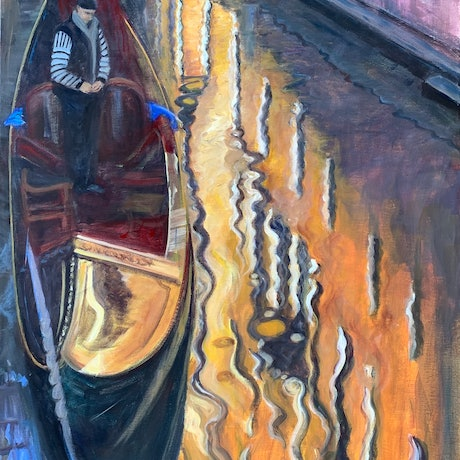 (CreativeWork) Venice reflection  by Shelly Du. Acrylic Paint. Shop online at Bluethumb.