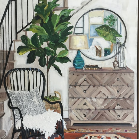 (CreativeWork) Home style  by Gina Fishman. Acrylic Paint. Shop online at Bluethumb.