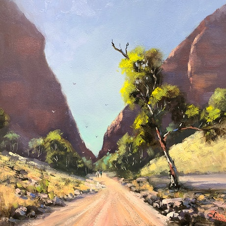 (CreativeWork) The Path To Simpsons Gap by John Rice. Oil Paint. Shop online at Bluethumb.