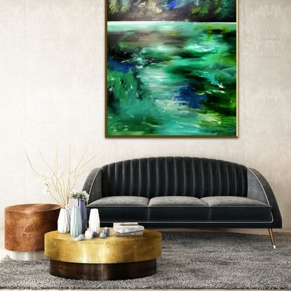 (CreativeWork) Natural World  by Alice Howell. Oil Paint. Shop online at Bluethumb.