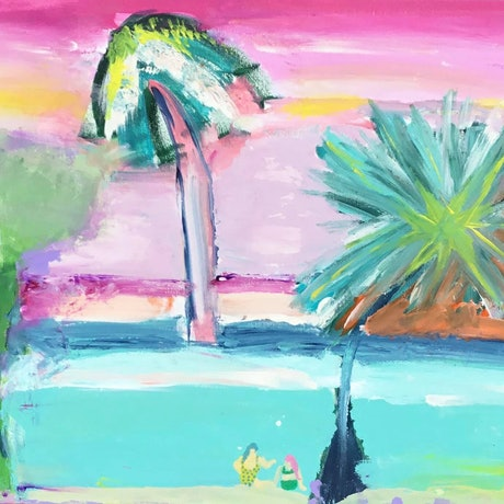 (CreativeWork) Paradise beach 2 by Connie krol ART. Acrylic Paint. Shop online at Bluethumb.