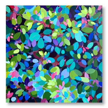 (CreativeWork) Jewels in the Garden by Eve Sellars. Acrylic Paint. Shop online at Bluethumb.