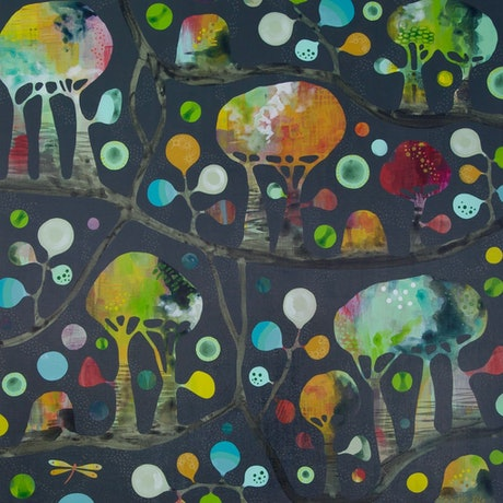 (CreativeWork) Shady Patch by Melinda Pile. Acrylic Paint. Shop online at Bluethumb.