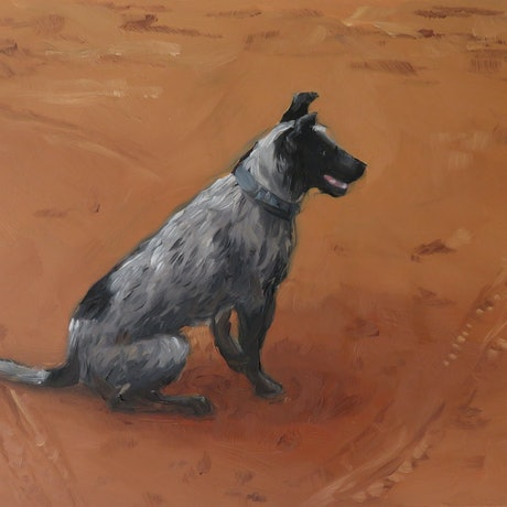 (CreativeWork) Dusty by Jemma Cakebread. Oil Paint. Shop online at Bluethumb.