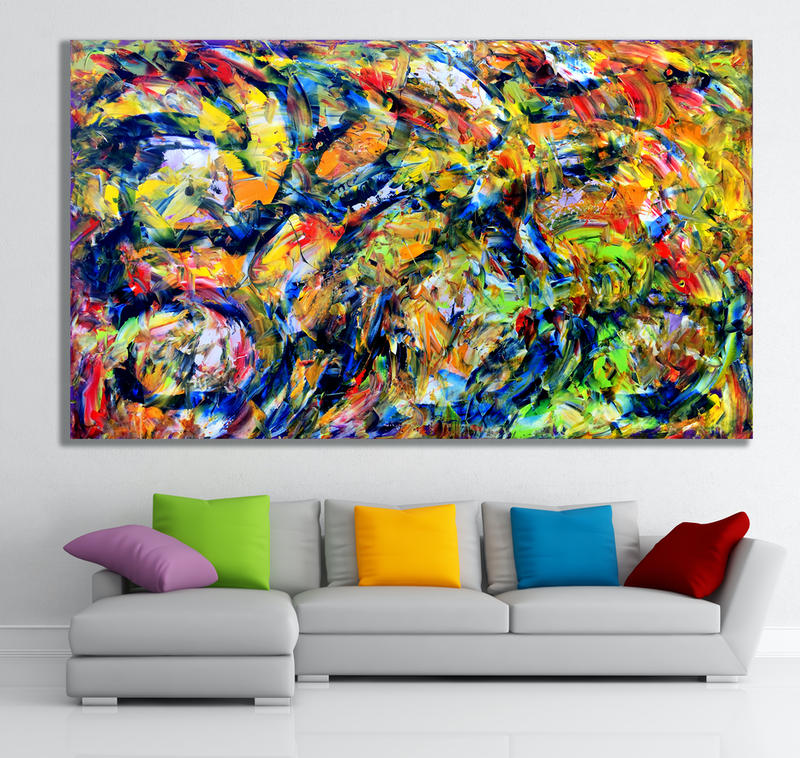 (CreativeWork) Tethered Emotions by Estelle Asmodelle. Acrylic Paint. Shop online at Bluethumb.