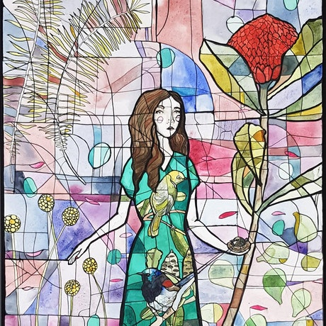 (CreativeWork) Isabella by Nicola Cowie. Watercolour Paint. Shop online at Bluethumb.