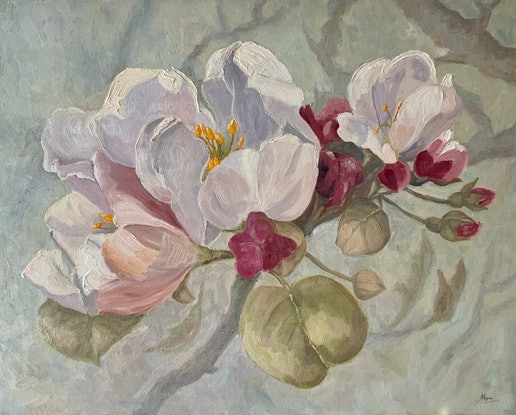 (CreativeWork) Apple Blossom (114) by Janetha Poisson Lyon. Oil Paint. Shop online at Bluethumb.