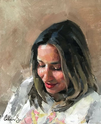(CreativeWork) Oil Sketch  by Colleen Stapleton. Oil Paint. Shop online at Bluethumb.