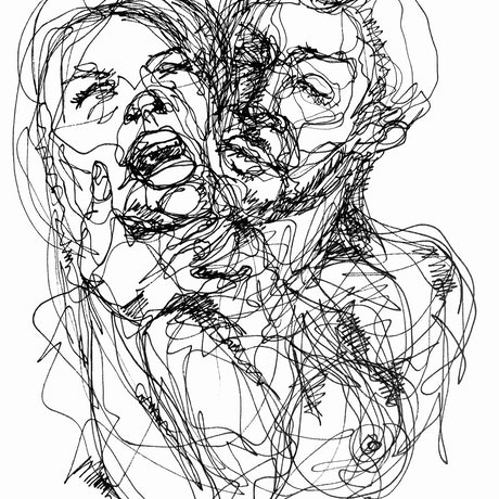 (CreativeWork) Don't Let Go - In the moment of surrender  by Irma Calabrese. Drawings. Shop online at Bluethumb.