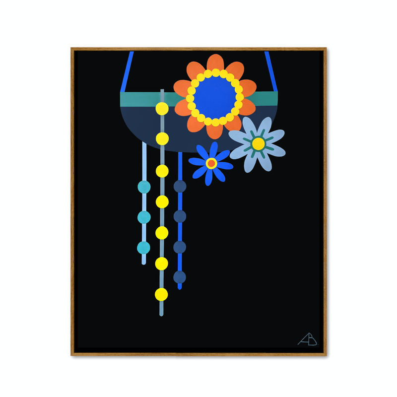 (CreativeWork) Hanging Planter No.6 by Andria Beighton. Acrylic Paint. Shop online at Bluethumb.