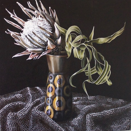 (CreativeWork) Reminiscing by Belinda Jeanes. Acrylic Paint. Shop online at Bluethumb.