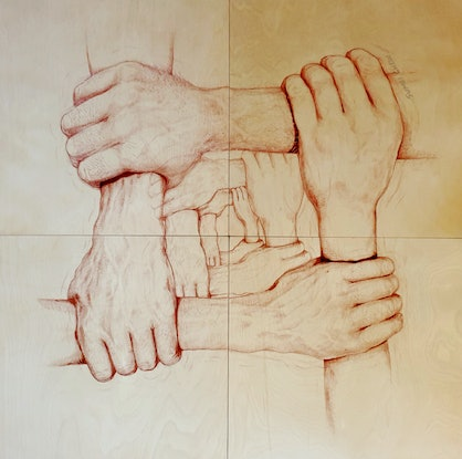 (CreativeWork) Solidarity   by Sumei chew. Drawings. Shop online at Bluethumb.